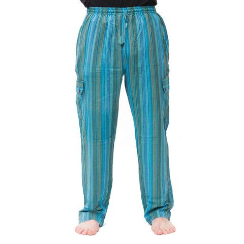 Striped Cottorn Mens Pants