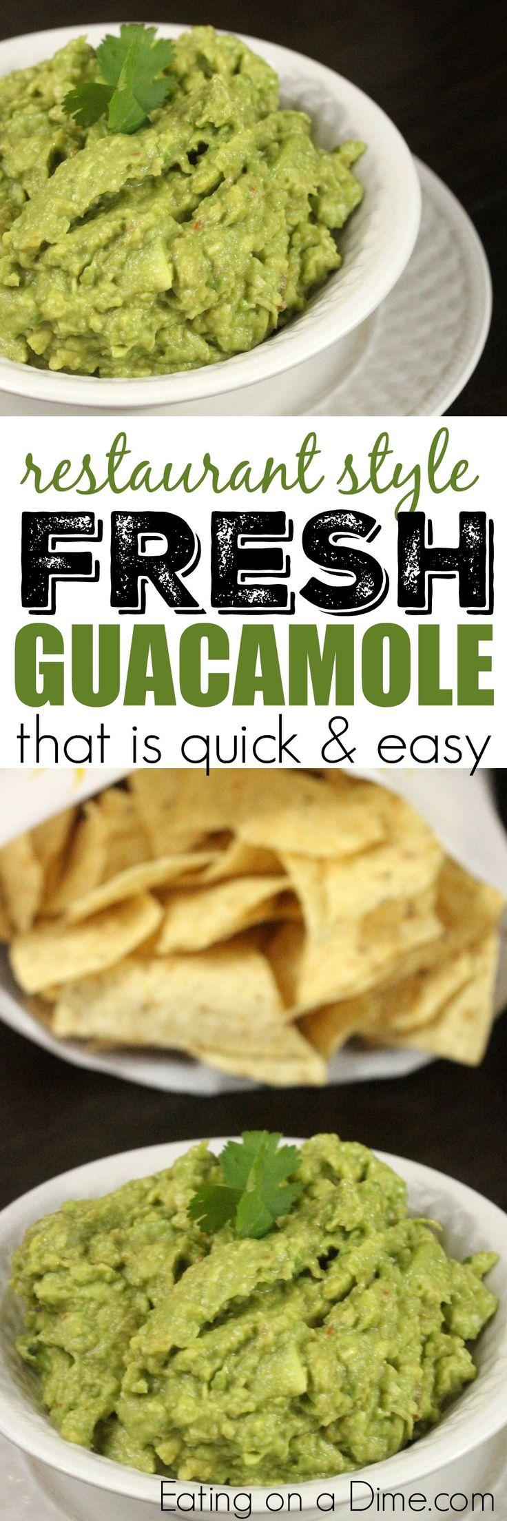 We love this Very Simple Guacamole Recipe