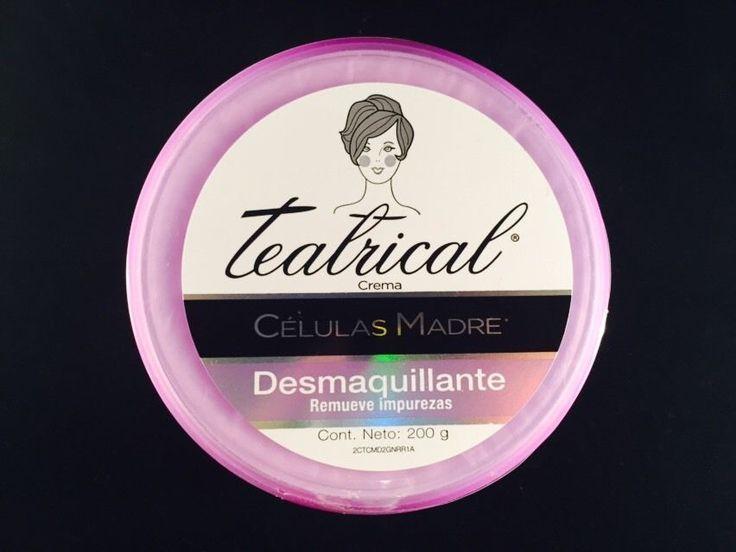 Teatrical Células Madre Crema Desmaquillarte 200 gr.  Suave crema desmaquillante, que desvanece las lineas de expresión y la flacidez visiblemente en 4 días.