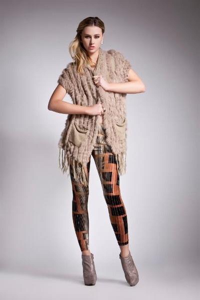 One medium Elliatt fur vest left in camel. Reduced to $79 Bargain! x