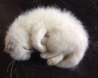 Needle Felted Kitten Cat