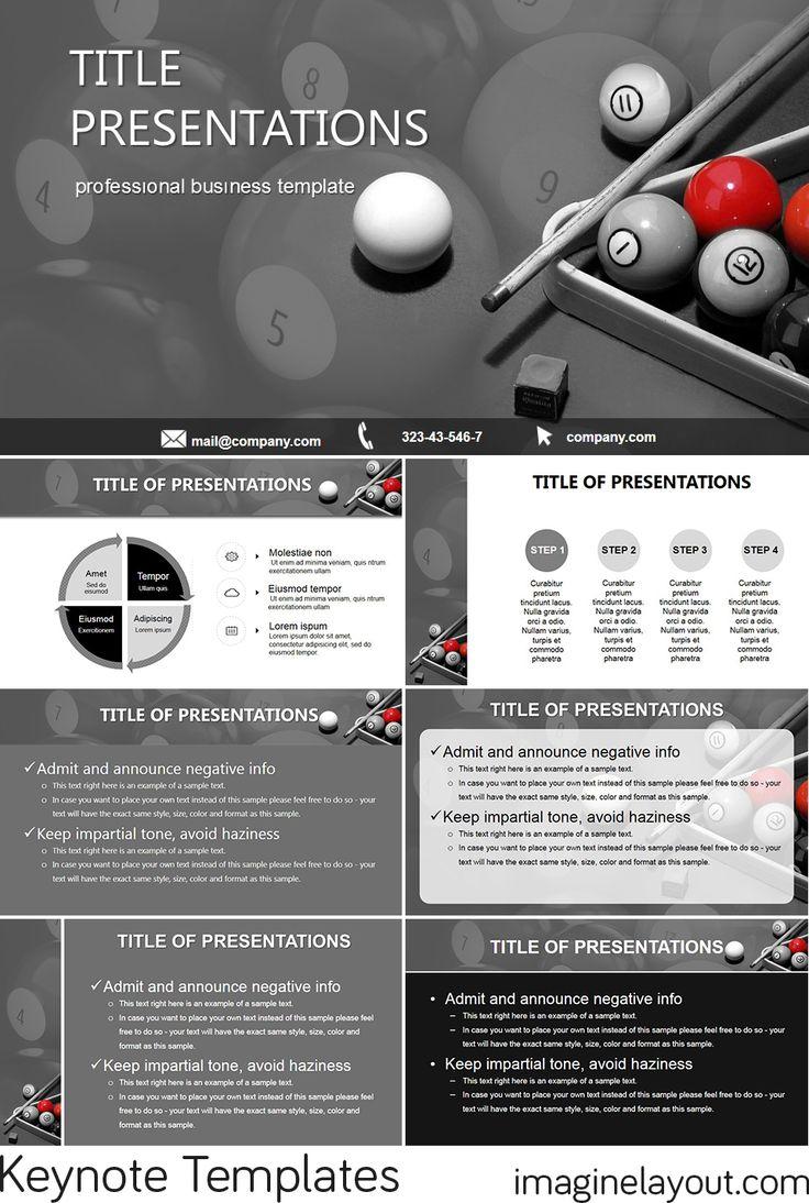 Download Free Billiards Keynote templates