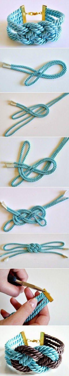 OS MELHORES ARTESANATOS: Bracelete com fios passo a passo