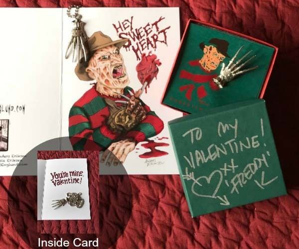 "brokehorrorfan: ""Looking for the perfect Valentine's Day gift for the Nightmare on Elm Street fan in your life? Freddy Krueger himself, Robert Englund, is selling autographed valentines for $50. You..."