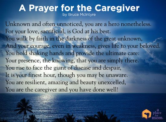 Poem A Prayer For The Caregiver More Caregiver And Poem