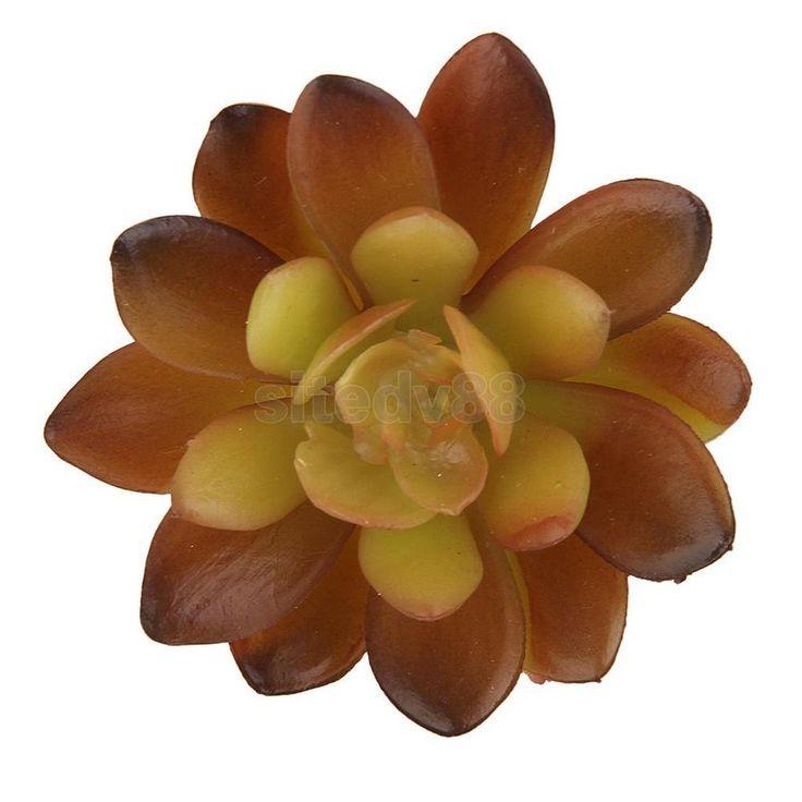 Artificial Fake Succulent Gem Flower Plant Foliage Home Decor Autumn Color