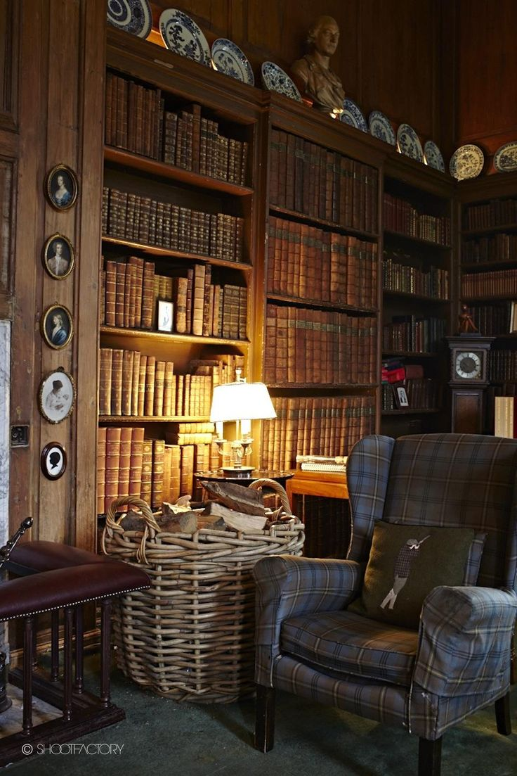 A stately home library #literarydecor