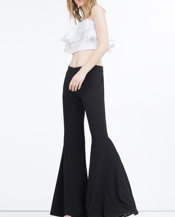 Image 6 of EXTRA FLARED TROUSERS from Zara