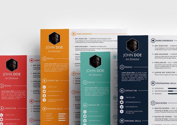 11 best Resume images on Pinterest Creative cv design, Creative - cool free resume templates