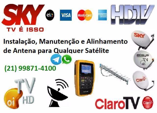 Técnico Instalador Antena SKY / Claro / OI / HDTV