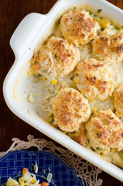 Cheddar Bay Biscuits Chicken Pot Pie #recipe