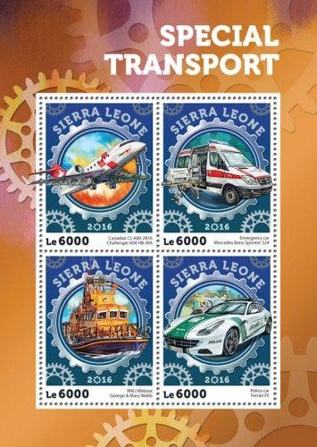 SRL16408a Special transport (Canadair CL-600-2B16 Challenger 604 HB-JRA; Emergency car Mercedes Benz Sprinter 324; RNLI lifeboat George & Mary Webb; Police car Ferrari FF)
