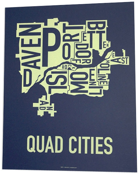 Quad Cities from Ork Posters