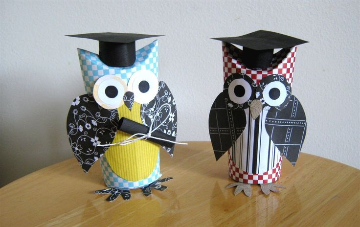 17 best images about graduation card on pinterest owl for Toilet paper tube owls