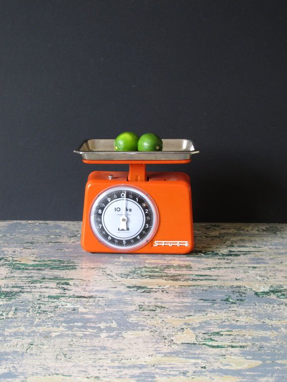 Vintage kitchen scale midcentury retro kitchen by justynamrugala