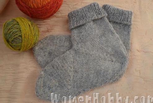 knit socks from the heel DIY (Мастер-класс Носки связанные от пятки)