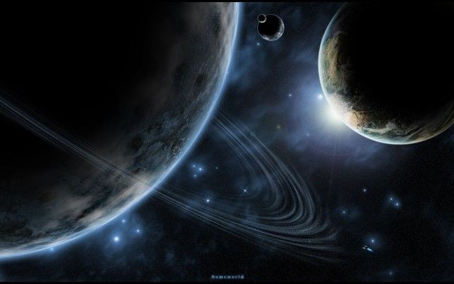 Mystic Orbiting Planets Wallpaper
