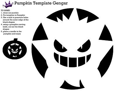 Pokemon pumpkin template gengar by skgaleana halloween for Pokemon jack o lantern template