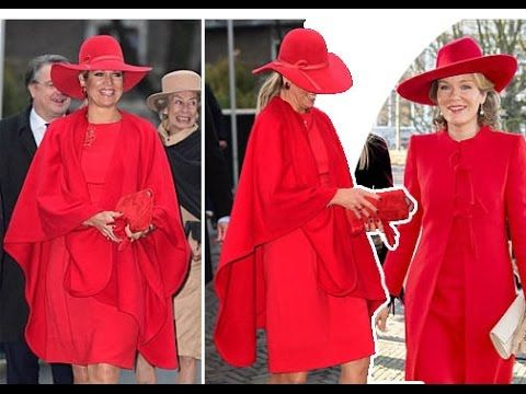 QUEEN MAXIMA OF THE NETHERLANDS FASHION LATEST NEWS: SHE PRETTY IN A RED...