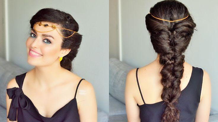 Fake Fishtail Braid Princess Jasmine Hairstyle