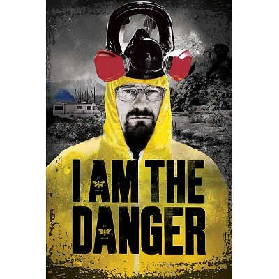 Breaking Bad (I Am the Danger) Television Poster @ niftywarehouse.com #NiftyWarehouse #BreakingBad #AMC #Show #TV #Shows #Gifts #Merchandise #WalterWhite