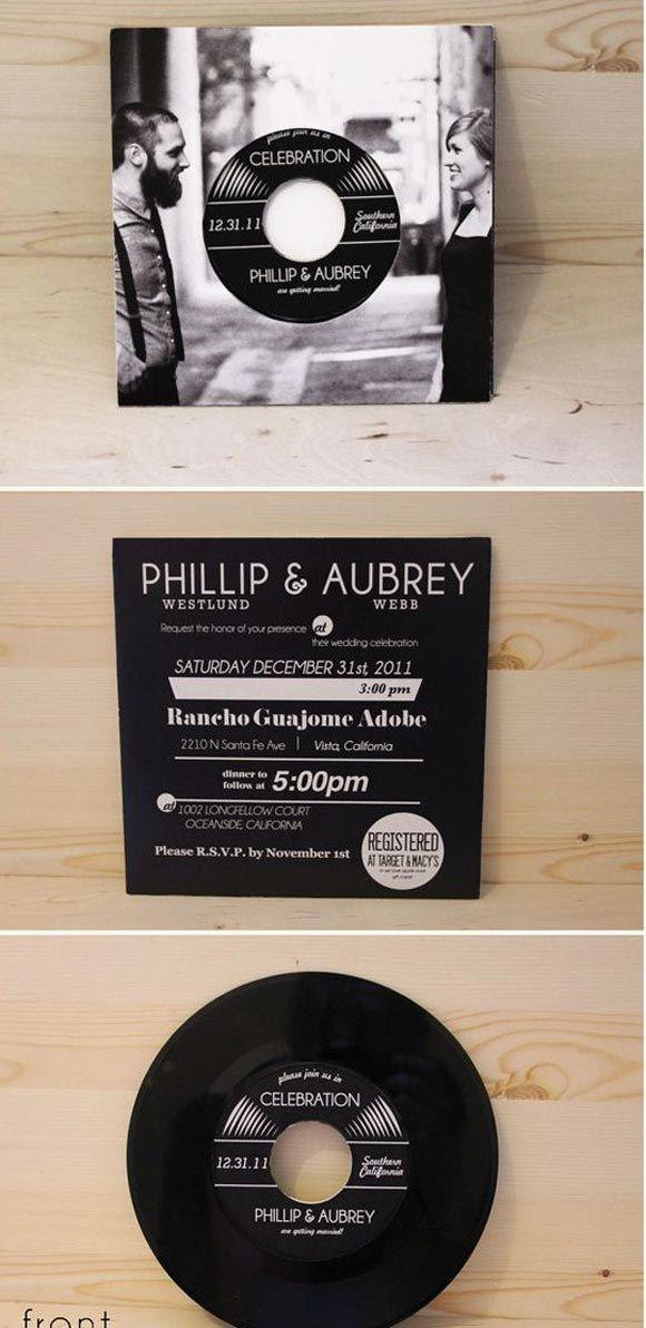 Wedding invitation for music nerds...so creative <3