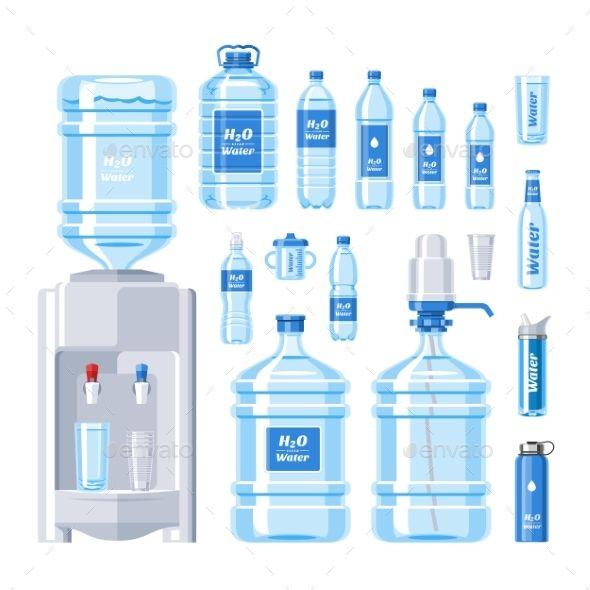 Water Bottle Vector Water Drink Liquid Aqua Water Bottle Label Design Aqua Bottle Water Packaging