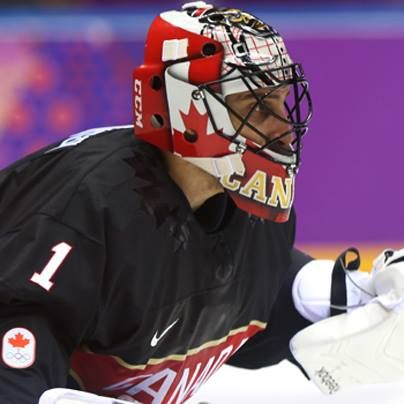 Roberto Luongo  Team Canada's  #2 goalie  from CBC  Hockey Night in Canada site on facebook