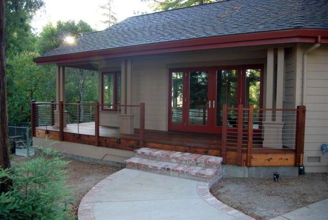 28 migliori immagini decking railings and stairs su for Disegni cottage portico anteriore