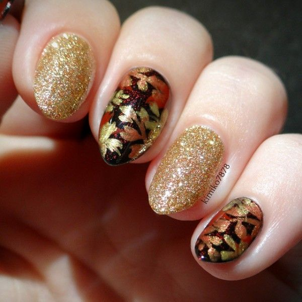 31 best Autumn Leaf Nail Art images on Pinterest | Autumn nails ...