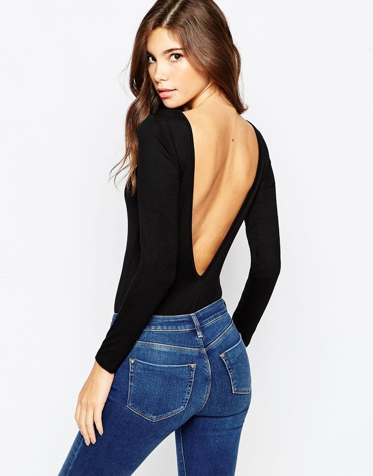 70's vibe bodysuit is 100% necessary. They shape the body perfectly, paired with a haigh wasted pair of jeans, the literally only show off your long rib cage. You know what;s really rock and roll? Backless anything. It is perfect because you can throw on a blazer/jacket and not look like you are pushing it, but you definitely know what you are working with when you decide to take the jacket off.