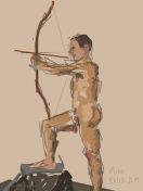 Danny Mooney 'Life drawing, Ore, 1/3/2015' iPad painting #APAD