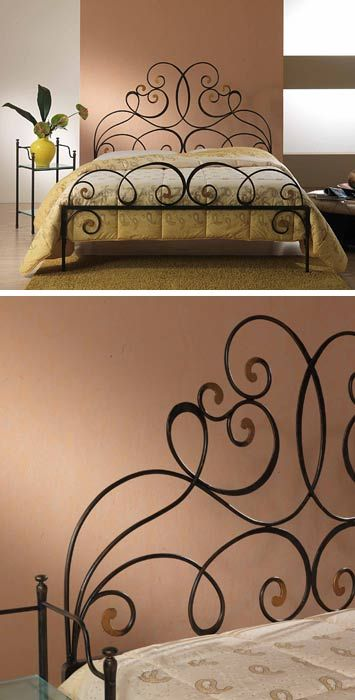 1000 ideas about wrought iron beds on pinterest wrought iron irons and ir - Les lits en fer forge ...