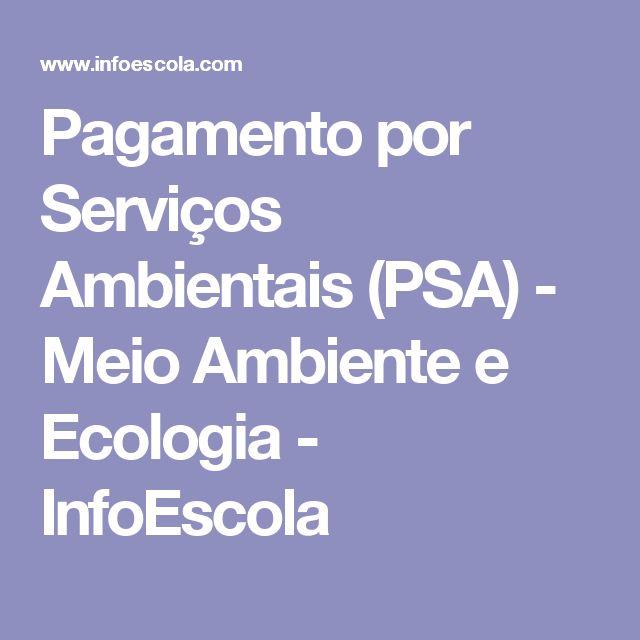 Pagamento por Serviços Ambientais (PSA) - Meio Ambiente e Ecologia - InfoEscola