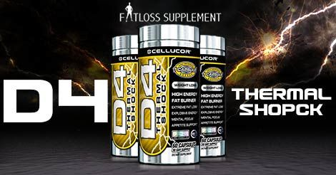 Cellucor D4 Thermal Shock is one of the best fat burner Supplements