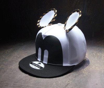 Summer Womens Cartoon Cute Big Mouse Ears Eyes Snapback Hats Mesh Cap Hip Hop Baseball Caps Female Topee Sun Hat For Women