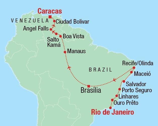 Northern Brazil & Venezuela