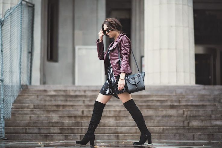 Summer Dress And Over The Knee Boots