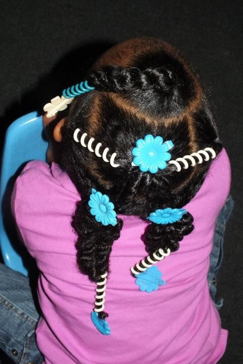 Once Upon a Curl: 2 strand twist  more sidewinders, little girl's ponytails