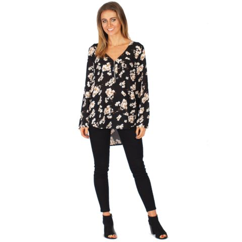Floral Zip Top $49    #zip #top #breastfeeding #womenswear #fashion #floral