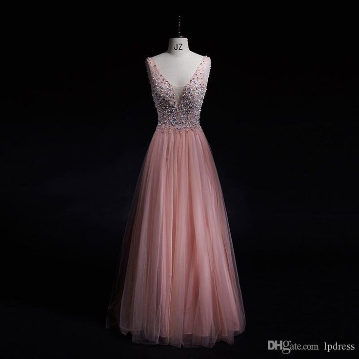 free shipping, $126.33/piece:buy wholesale  pearl pink prom dresses sparking beads sequins top pleats tulle long evening dresses real pictures v-back runway dresses party 2016 spring summer,real photos,tulle on lpdress's Store from DHgate.com, get worldwide delivery and buyer protection service.