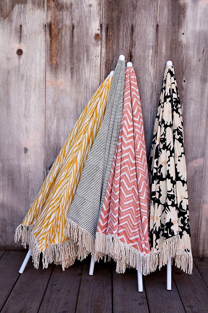 Luxury Indian printed beach umbrellas