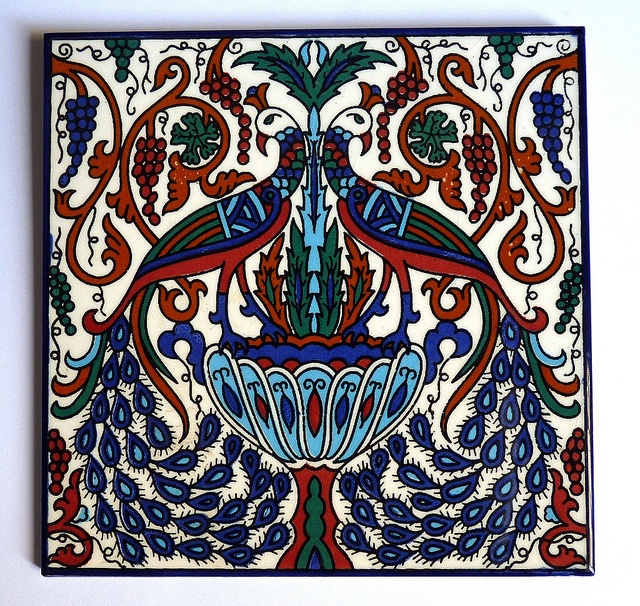 Armenian peacock tile