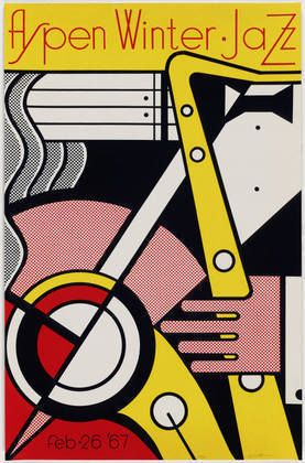 Poster by Roy Lichtenstein.  On the bill; Modern Jazz Quartet, Ramsey Lewis, Nancy Wilson.