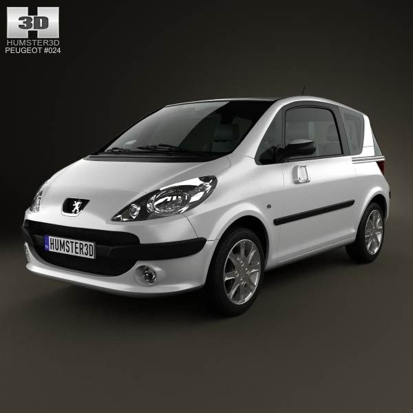 Peugeot 1007 2008 3d model from humster3d.com. Price: $75