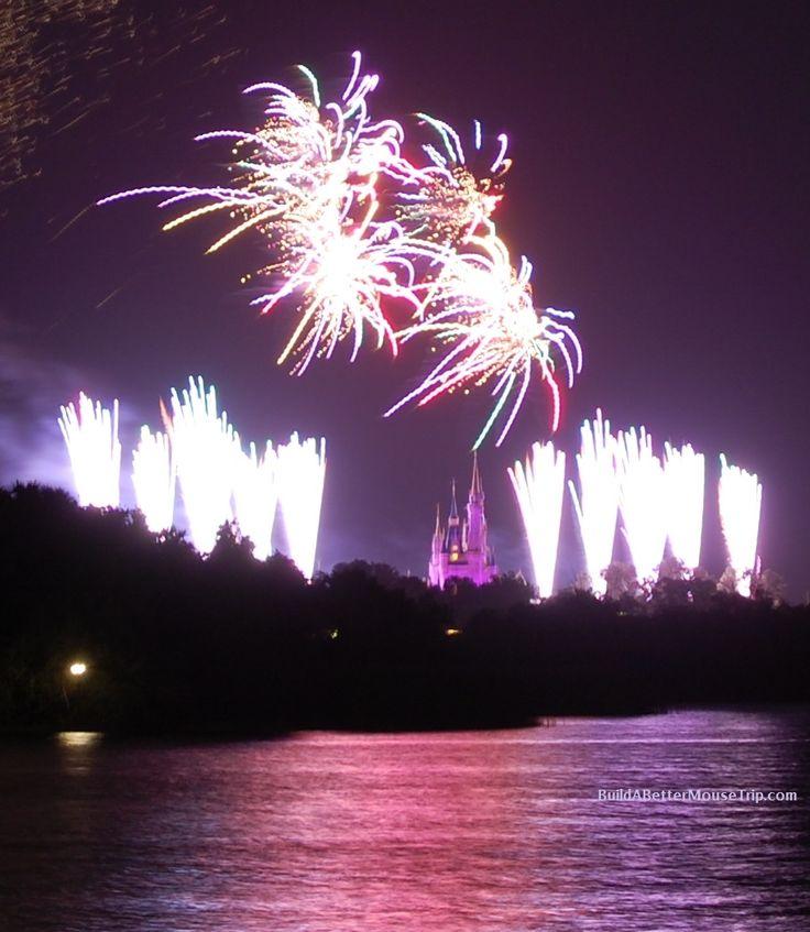 A view of the Magic Kingdom fireworks from the beach at Disney's Polynesian Resort.  (Disney World)   For more Polynesian Resort photos, see: http://www.buildabettermousetrip.com/disneys-polynesian-resort  #PolynesianResort #Poly