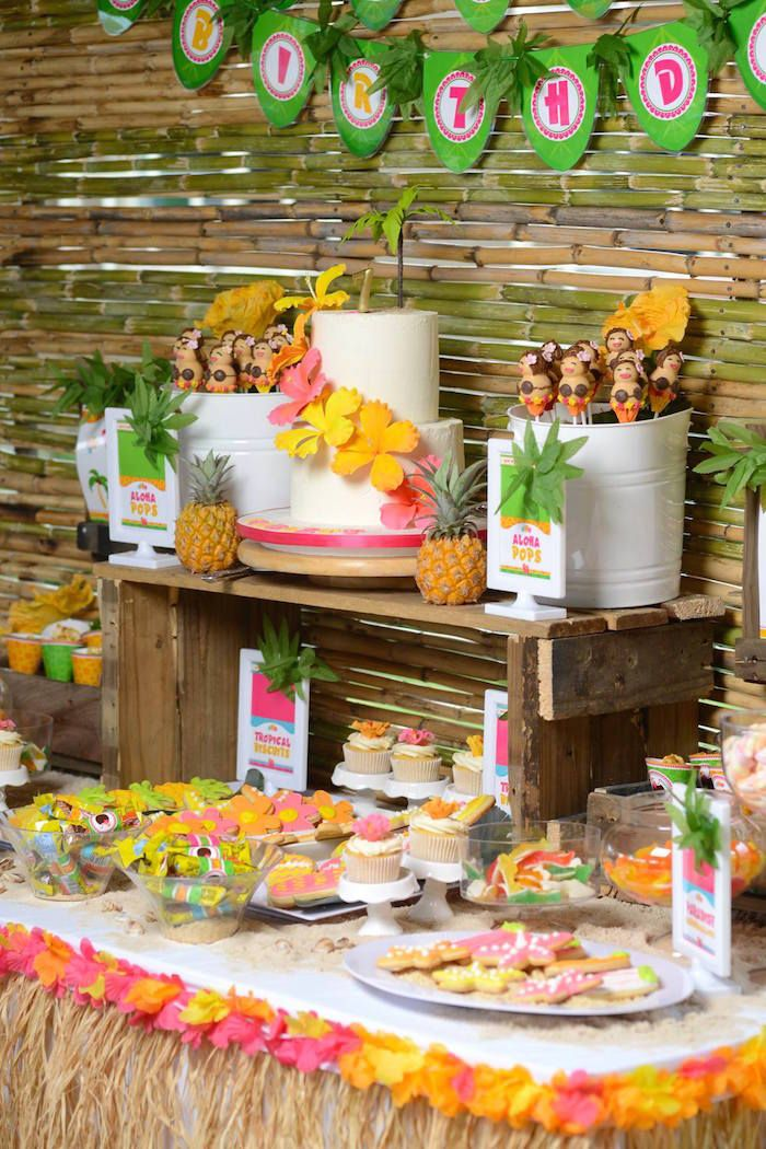 Hawaiian Luau themed birthday party via Kara's Party Ideas KarasPartyIdeas.com #hawaiianluauparty (41)