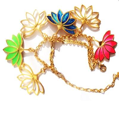 Lotus Charm Bracelet class=