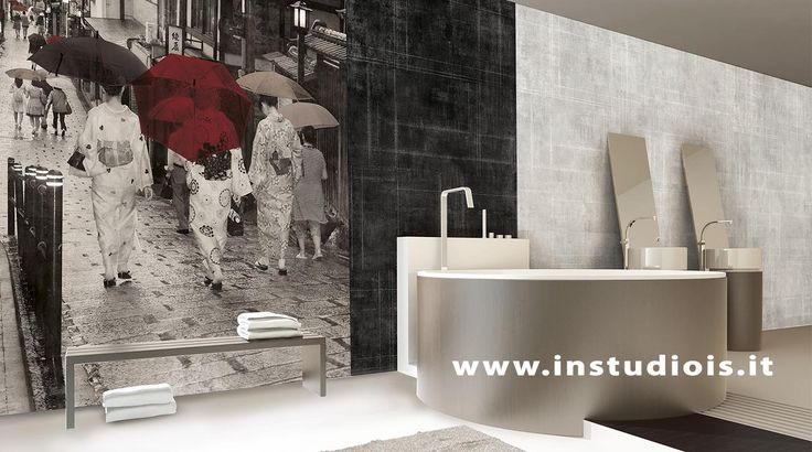 www.instudiois.it#wallpaper#madeinItaly#parati d'autore#fotography#riccardo lucatelli#serena bonicelli# instudio#IN#formigine#simona cigarini#collaboration#2017#newest#japan#love#gheisha