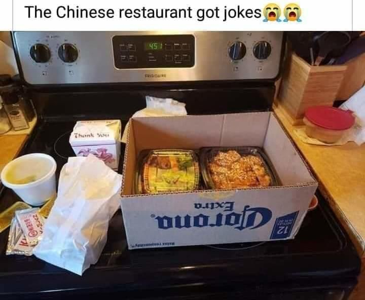 Not Everyone Is Losing Their Sense Of Humor Chinese Food Delivery In 2020 Chinese Restaurant Chinese Food Restaurant Chinese Food Delivery